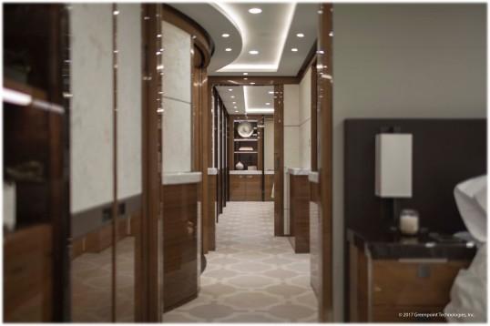 Greenpoint Technologies VIP 787-8 Hallway Fwd